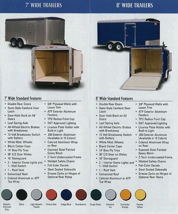 enclosed cargo trailers sws truck bodies trailers 5 wide standard features